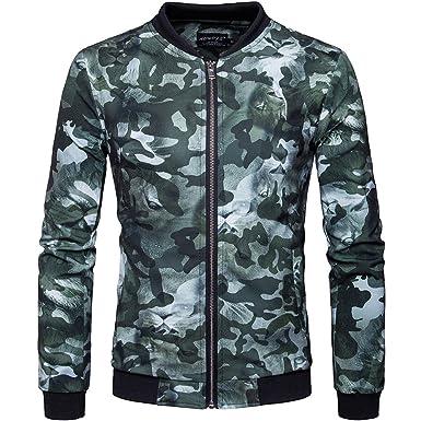 33ef4e5672414 Men's Casual Stand Collar Floral Bomber Flight Jacket Slim Fit Bike ...