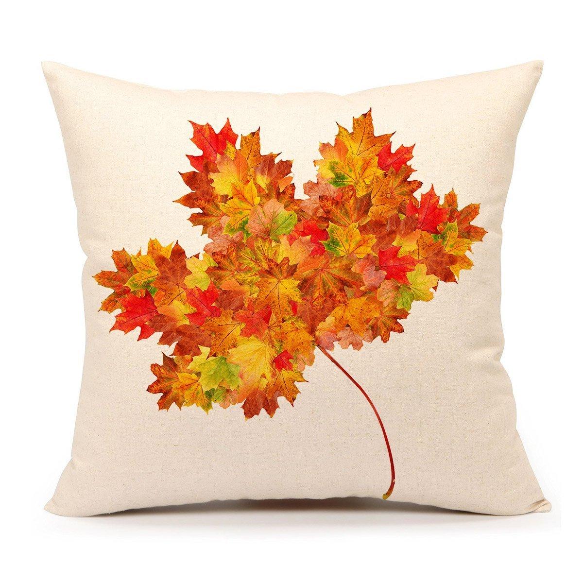 spxubz Pumpkin Spice Fall Halloween枕カバー装飾ホーム装飾素敵なギフトスクエアインドア/アウトドア枕カバーサイズ: 18 x 18インチ( Two Sides ) 16x16 Inch B07CGNBFZC