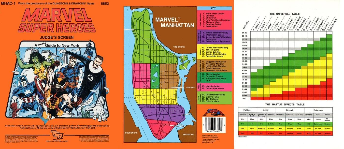 Marvel Map Of New York.Marvel Super Heroes Judge S Screen A Hero S Guide To New York