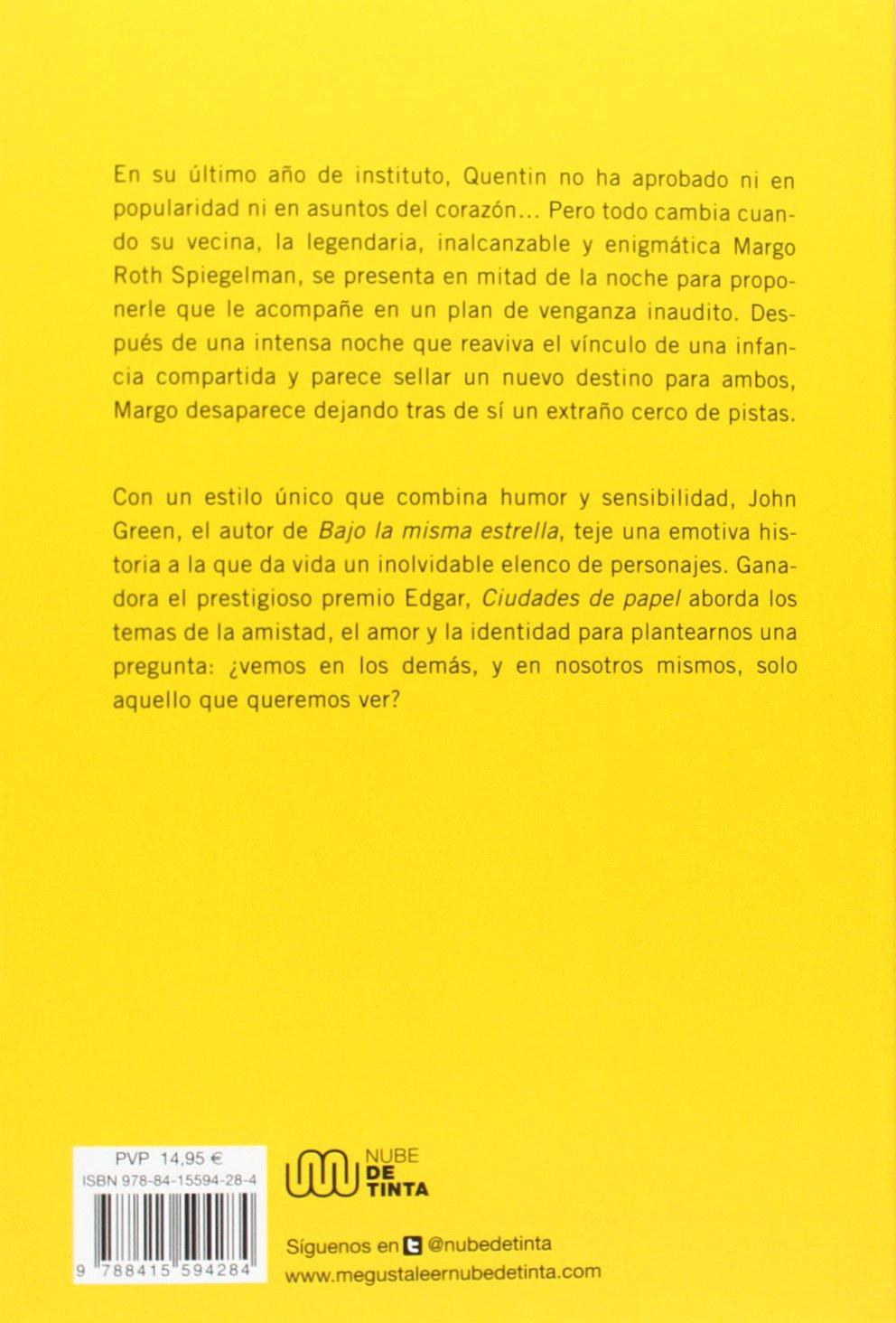 Resultado de imagen de libro ciudades de papel sinopsis