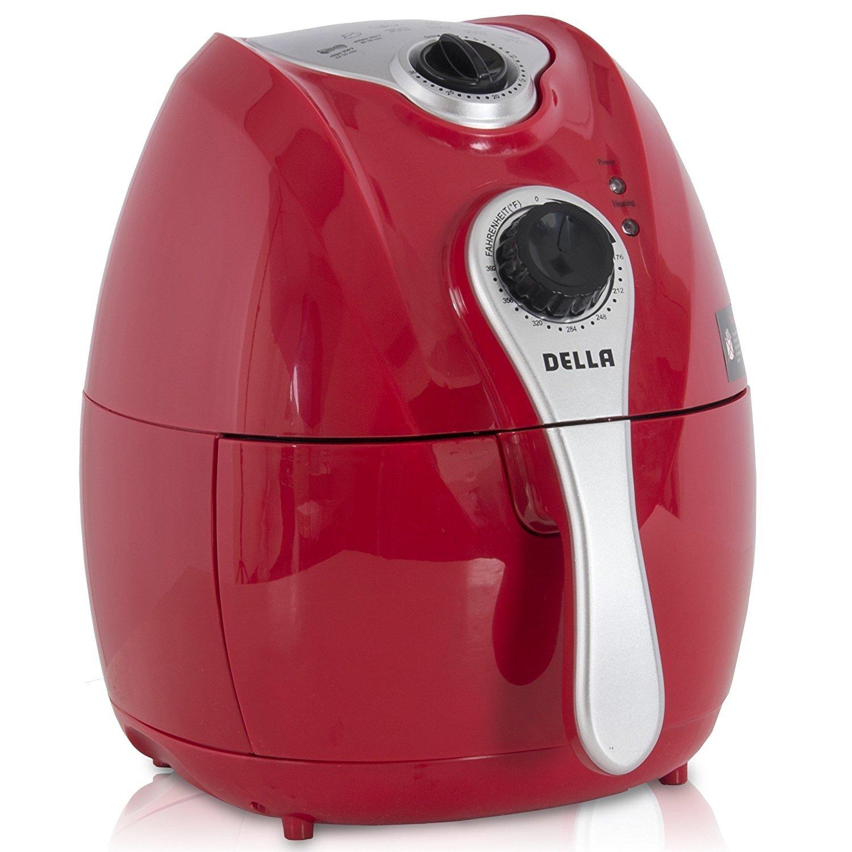 Della Electric Air Fryer w/Temperature Control, Detachable Basket and Handle - Black, 1500W 048-GM-48206