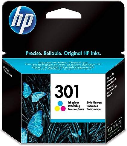 HP CH562EE 301 Cartucho de Tinta Original, 1 unidad, tricolor ...