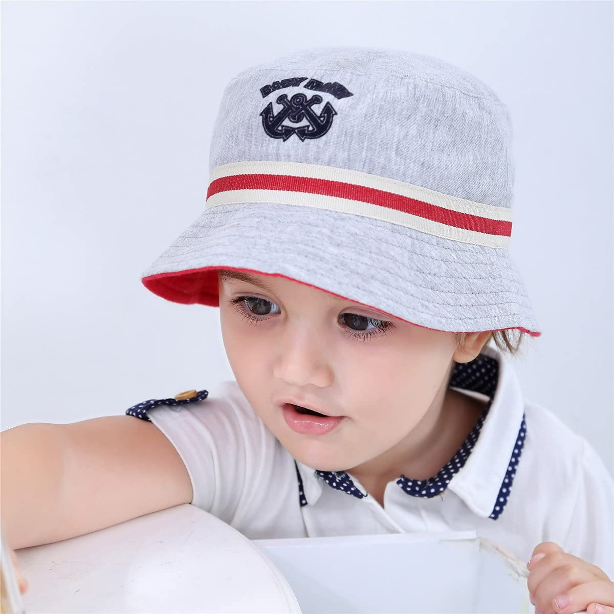 Fancyland Bob de Soleil Anti-UV Chapeau Pur Coton B/éb/é Enfant Gar/çon Printemps Et/é