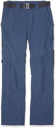 Columbia Pants Xo0660 Pantal/ón de Excursionismo Convertible para Hombre Walking Trousers Silver Ridge II