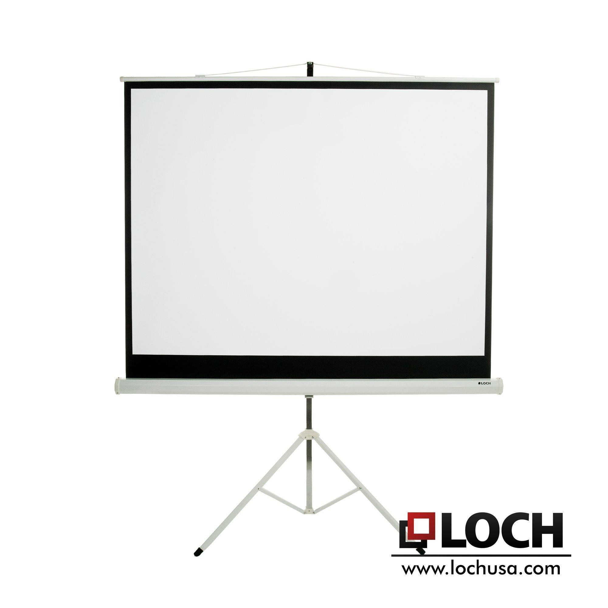 LOCH 84'' diagonal 4:3 Tripod Projection Screen by Loch