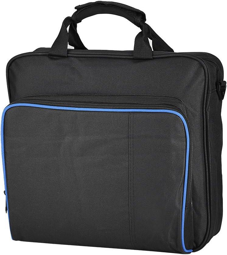 Bolsa para PS4 Pro, Bolsa portátil de Nylon Impermeable de Gran Capacidad para el Sistema de Juego PS4 Pro con Correa de Hombro Ajustable, Viajes, hogar, Oficina (Negro)