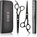 Hair Cutting Scissors Shears Kit, CIICII Professional Hairdressing Scissors Set (Hair Beard Trimming Shaping Grooming Thinnin