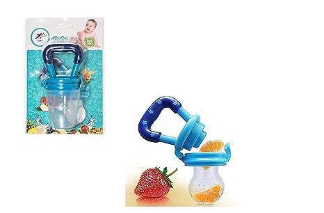 Chupete Q4U chupete para bebé, chupete comida fresca, chupete frutas azul azul Talla:M