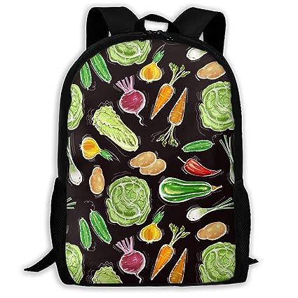 Fresh Vegetarian Healthy Food Pattern Waterproof Adult Backpack Shoulder  Bag For Women And Men Premium Durable 00e8993435