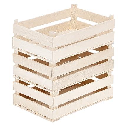 3 grandes Madera Cajas de madera dekokistchen Madera Natural stiegen stiegen