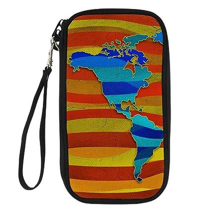 fba6519ce5ed STARTERY Stylish Map Travel Passport Wallet Document Organizer Cluntch Bag  for Women, map 10