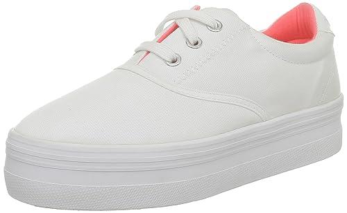 No Name Plato CVO Twill Plato CVO Twill_Blanc - Zapatillas de Deporte de Tela para Mujer, Color Blanco, Talla 37: Amazon.es: Zapatos y complementos