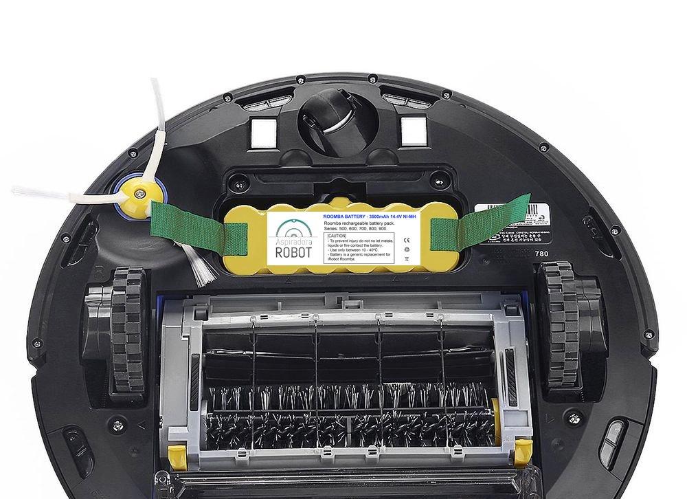 ASP ROBOT Batería EXTRA 3500mah 14.4V para Roomba 531 Serie 500. Recambio recargable repuesto compatible para aspirador irobot Roomba NI-MH.