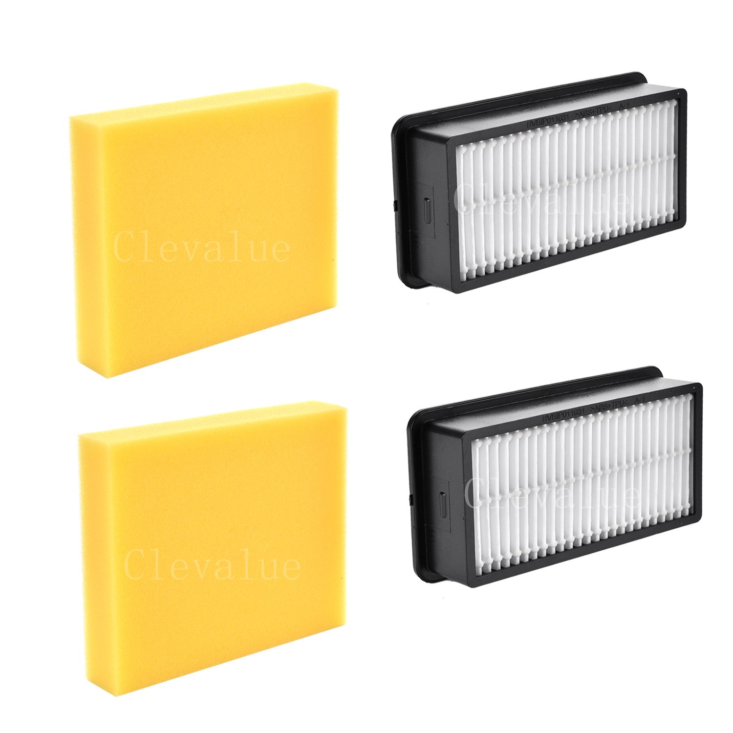 Clevalue Replacement for Bissell Style 1008 Filter Pack for CleanView Upright Vacuums-2pack by Clevalue