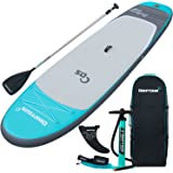 Driftsun Balance 11 Yoga SUP Inflatable Stand Up Paddle Board | Complete Package with Travel Backpack, Adjustable Paddle, Coil Leash - 11 Feet x 34 Inch