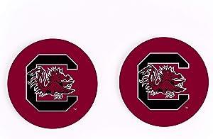 University of South Carolina NCAA Team Logo 2.75 x 2.75 Absorbent Ceramic Car Coasters Pack of 2