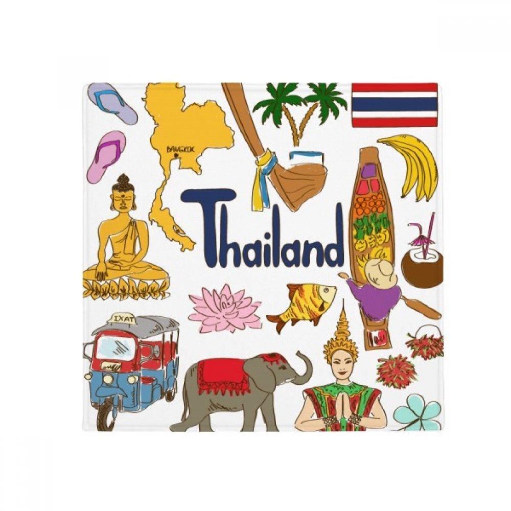 DIYthinker Thailand Landscap Animals National Flag Anti-Slip Floor Pet Mat Square Home Kitchen Door 80Cm Gift