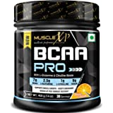 MuscleXP BCAA PRO With L-Glutamine, Citrulline Malate and BCAA 7000, Orange, 400g (14 oz) - 30 Servings
