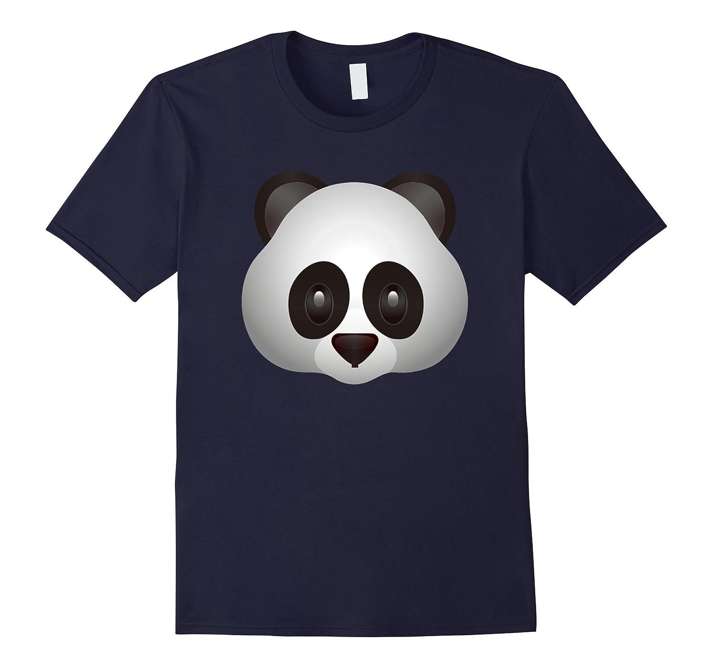 Cool Panda Face Emoji T Shirt Cute Emoticon Tshirt CL
