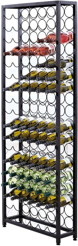 Weinregal 11 Flaschen Metall Flaschenregal Weinschrank Weinständer HONIG SCHWARZ