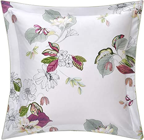 YVES DELORME FRENCH WHITE PURE COTTON PILLOW PROTECTOR