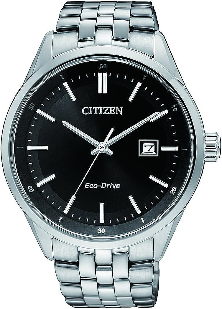 Citizen Reloj Analógico para Hombre de Cuarzo con Correa en Acero Inoxidable BM7251-88E