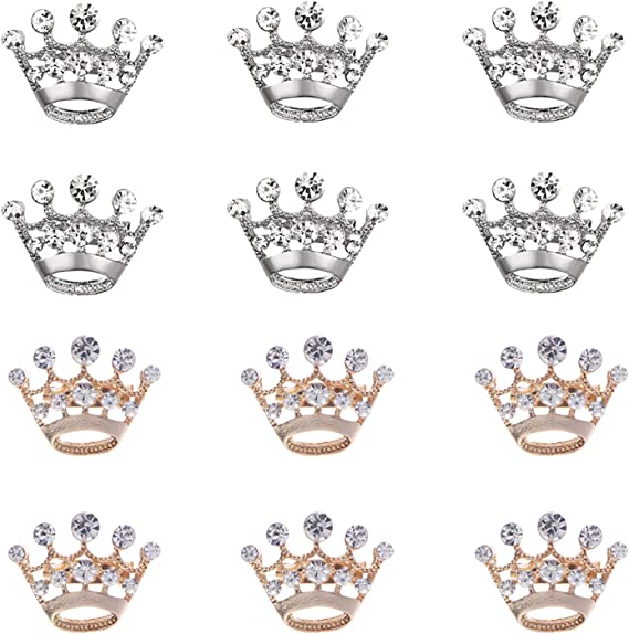 Rose Gold Diamante Royal Crown Brooch Pin Brand New FREE P/&P