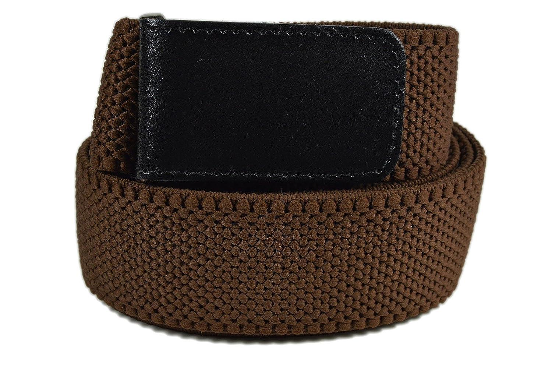 Men's Fully Adjustable Stretch 4cm Hook and Loop Belt TGBELTG-brown-150