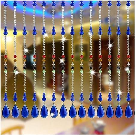 N / A CHAXIA Cortina De Cuentas Cristal Cortina Cortina De Partición Baño Sala Decoración De Fondo, Personalizable (Color : A, Size : 20 strands-60X120CM): Amazon.es: Hogar