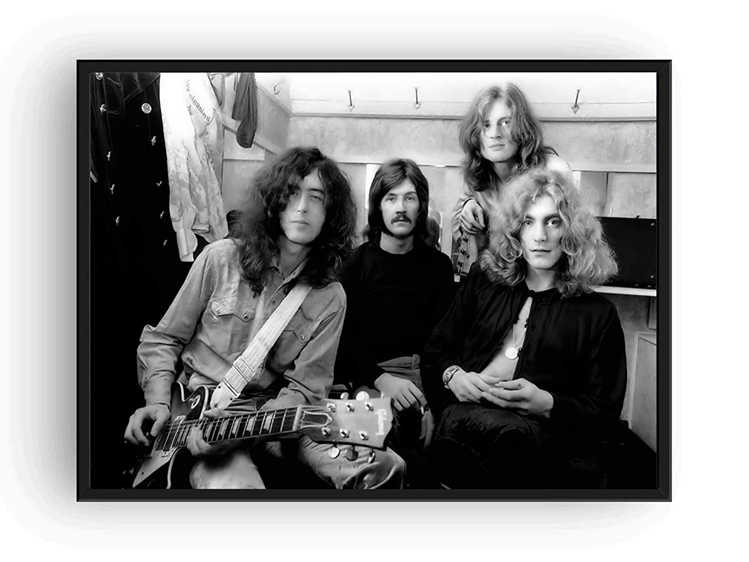 Amazon com led zeppelin poster 13x19 black and white 1960s posters prints