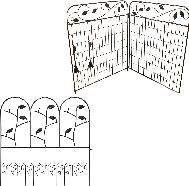 Amagabeli Decorative Garden Fence 44in x 6ft Bundle 18in x 7ft