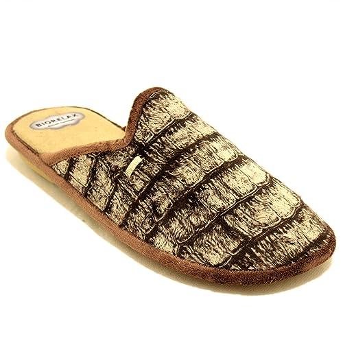 Cosdam 1471 - Zapatillas de Estar por Casa Hombre Invierno Biorelax Escamas Marrones - Marron, 40: Amazon.es: Zapatos y complementos