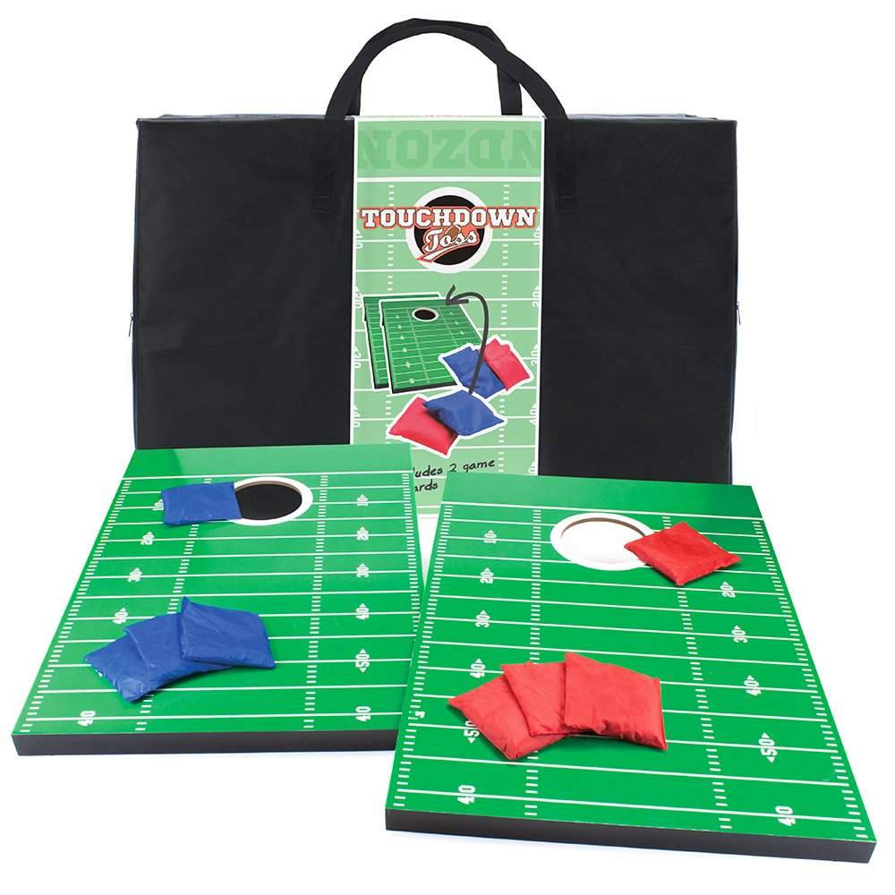 Crown Sporting Goods Touchdown Toss Cornhole Set with Nylon Carrying Case