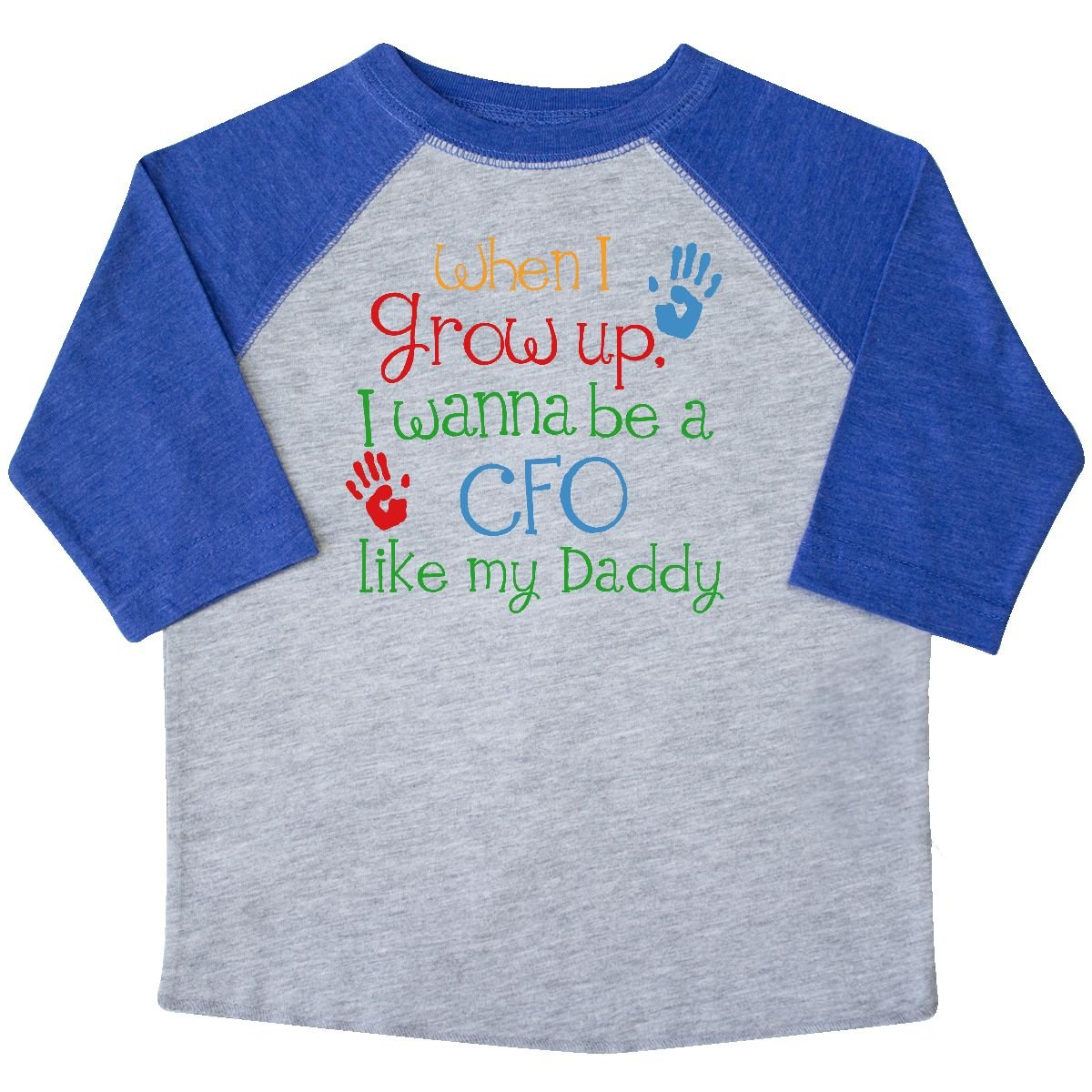 inktastic CFO Like Daddy Toddler T-Shirt 4T Heather and Royal