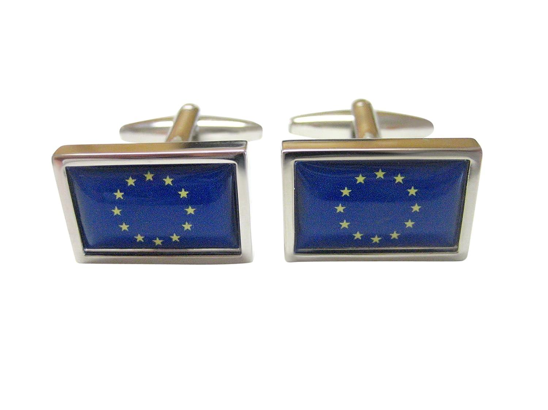 Bordered European Union Flag Cufflinks