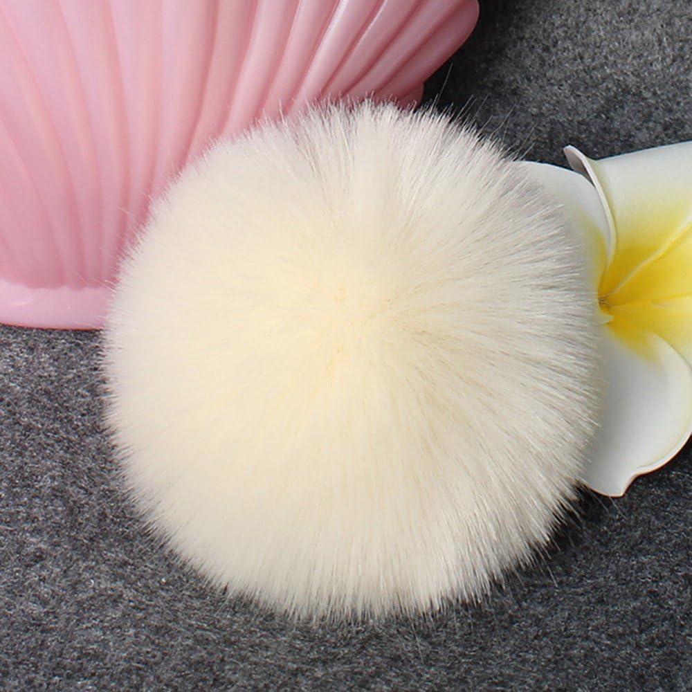 DIY Faux-Fox-Pelz-Flaumiger Pompom-Ball F/üR Strickende Hut-H/üTe Mit Elastischer Schnur Das Stricken Der Hut-H/üTe 4 Popul/äRe Mischungs-Farben Stellten 10Cm