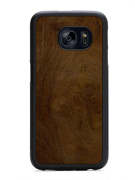 the latest c31c8 695be Amazon.com: Galaxy S7 Walnut Burl Wood Traveler Case by Carved ...