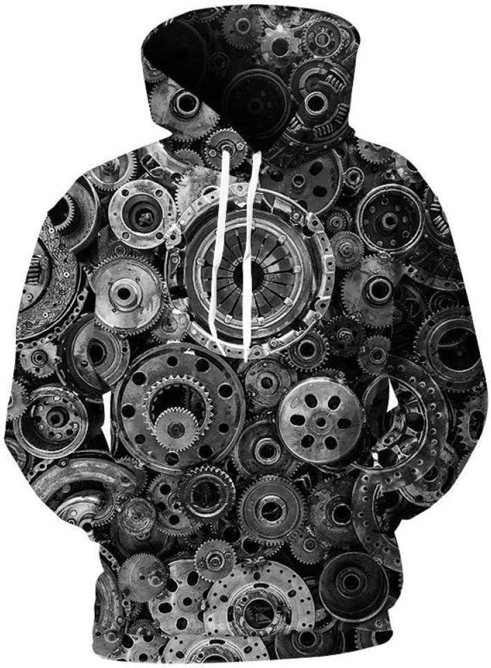 PU Printemps et Automne 3D Hoodies Hommes Mécanique Vitesse 3D Impression Hommes Hoodies Sweatshirts Mode Cool Sweats À Capuche Pullover Manteau Mâle,** L S