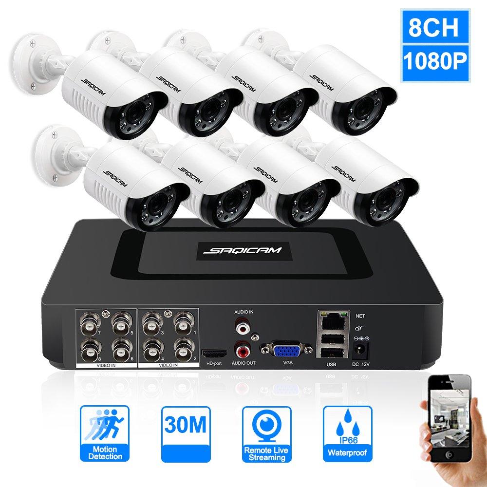 【ファッション通販】 SAQICAM 8Ch Ahd 1080N SAQICAM 8Ch Dvr防犯カメラシステム1080PデイナイトビジョンIr耐候性屋外Cctvカメラ監視キット、画像、全天候適応と電子メールアラート B07CW91NVD B07CW91NVD, オガサグン:33cc2fd8 --- martinemoeykens-com.access.secure-ssl-servers.info