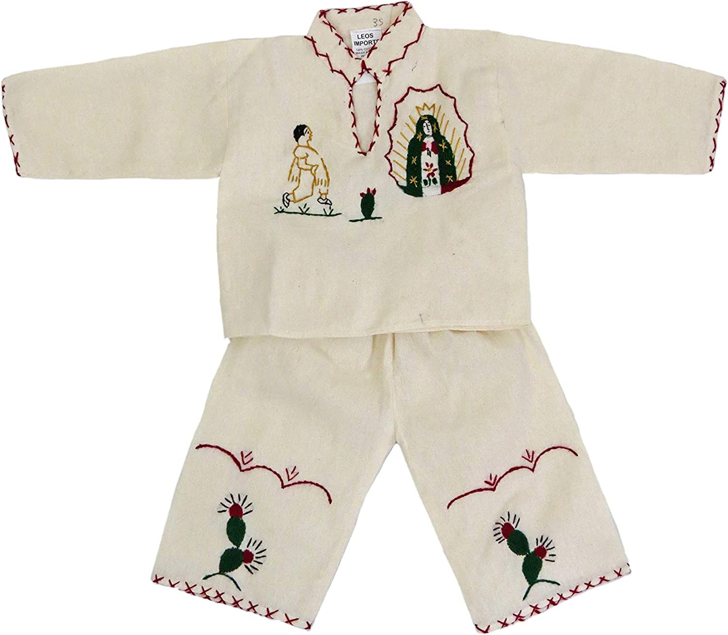 Traje de Juan Diego Guadalupana Hand Embroidered Suit for Boys