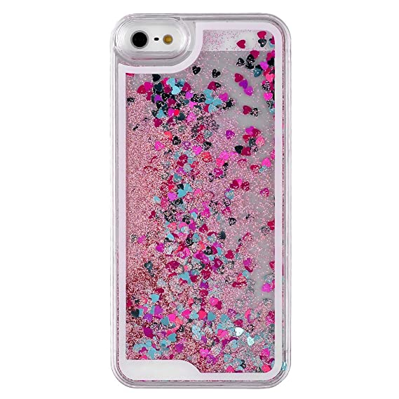 outlet store 96880 ee42d Amazon.com: DStores iPhone 5 Case,iPhone 5s Case, Pink Transparent ...