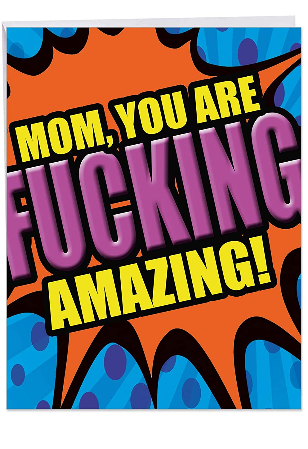 Amazing Mom - Hysterical Happy Mothers Day Card with Envelope (Large 8.5 x 11 Inch) - Adult Humor Notecard Stationery for Mother, Mom - Humorous ...