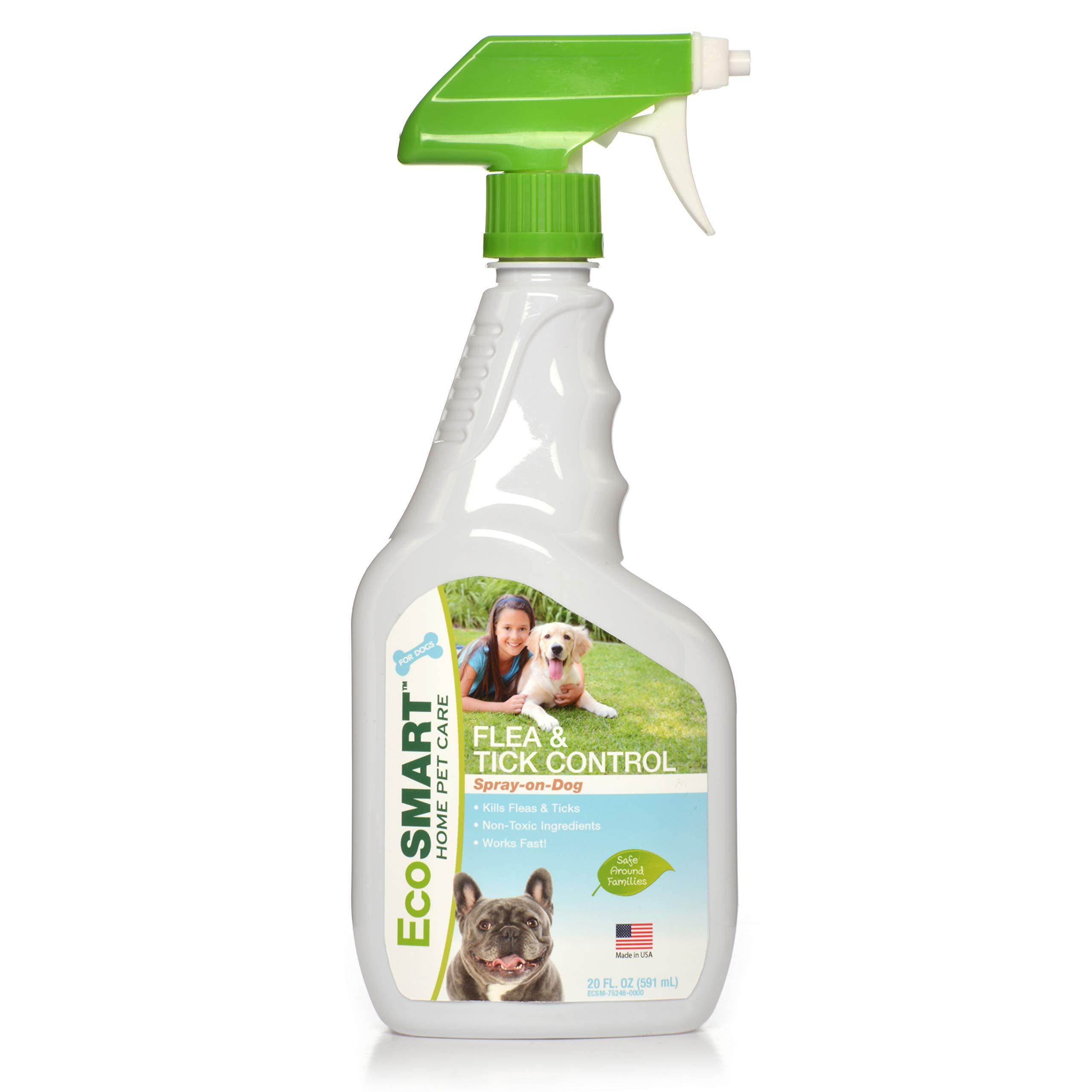 EcoSMART Flea & Tick Killer Spray-on-Dog, 20 oz. Ready-to-Spray Bottle by Ecosmart