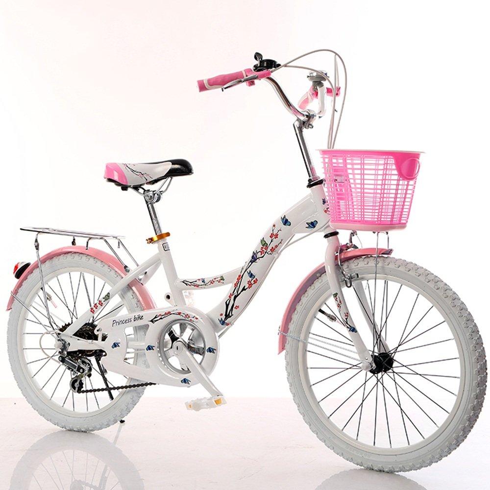 美しい 家子供用自転車、6-8-10-14歳の乳母車20/22インチの女の子の女子高生女性の自転車 (色 : White tire, サイズ さいず : 20 inches) B07D1N84LG 20 inches White tire White tire 20 inches