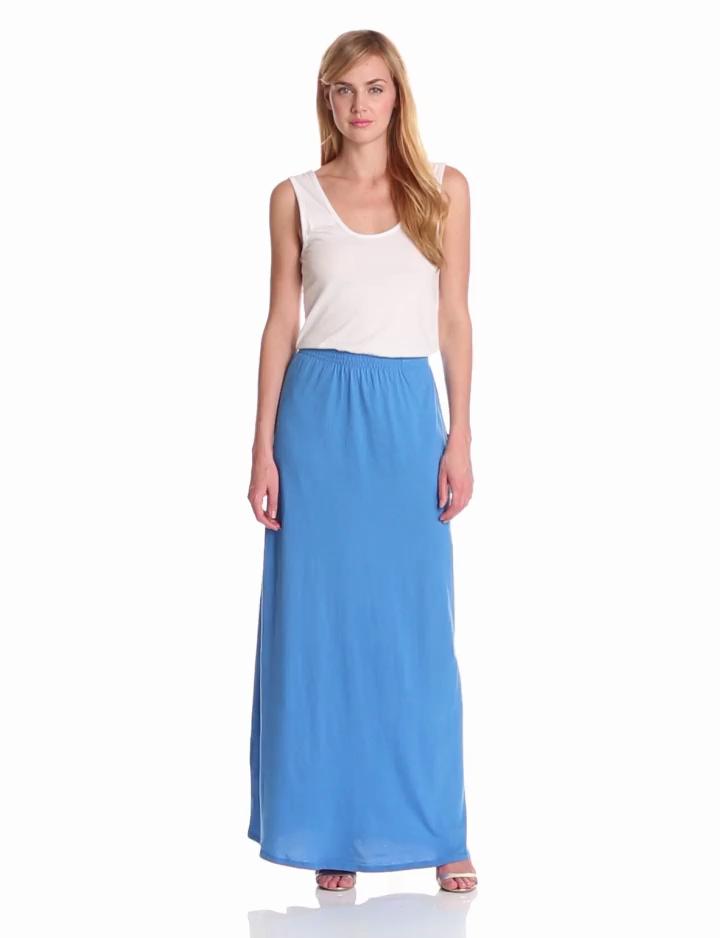 Bobi Womens Maxi Colorblock Dress, White/Tropez, Medium
