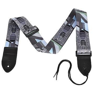 Acción nube poliéster algodón correa para guitarra con extremos de piel Para Bajo eléctrico y guitarras acústicas, Spider Style-B: Amazon.es: Instrumentos ...
