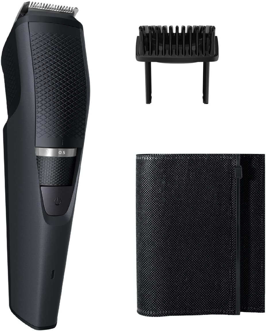 Philips Norelco Beard Trimmer BT3210 41 – cordless grooming, rechargable, adjustable length, beard, stubble, and mustache