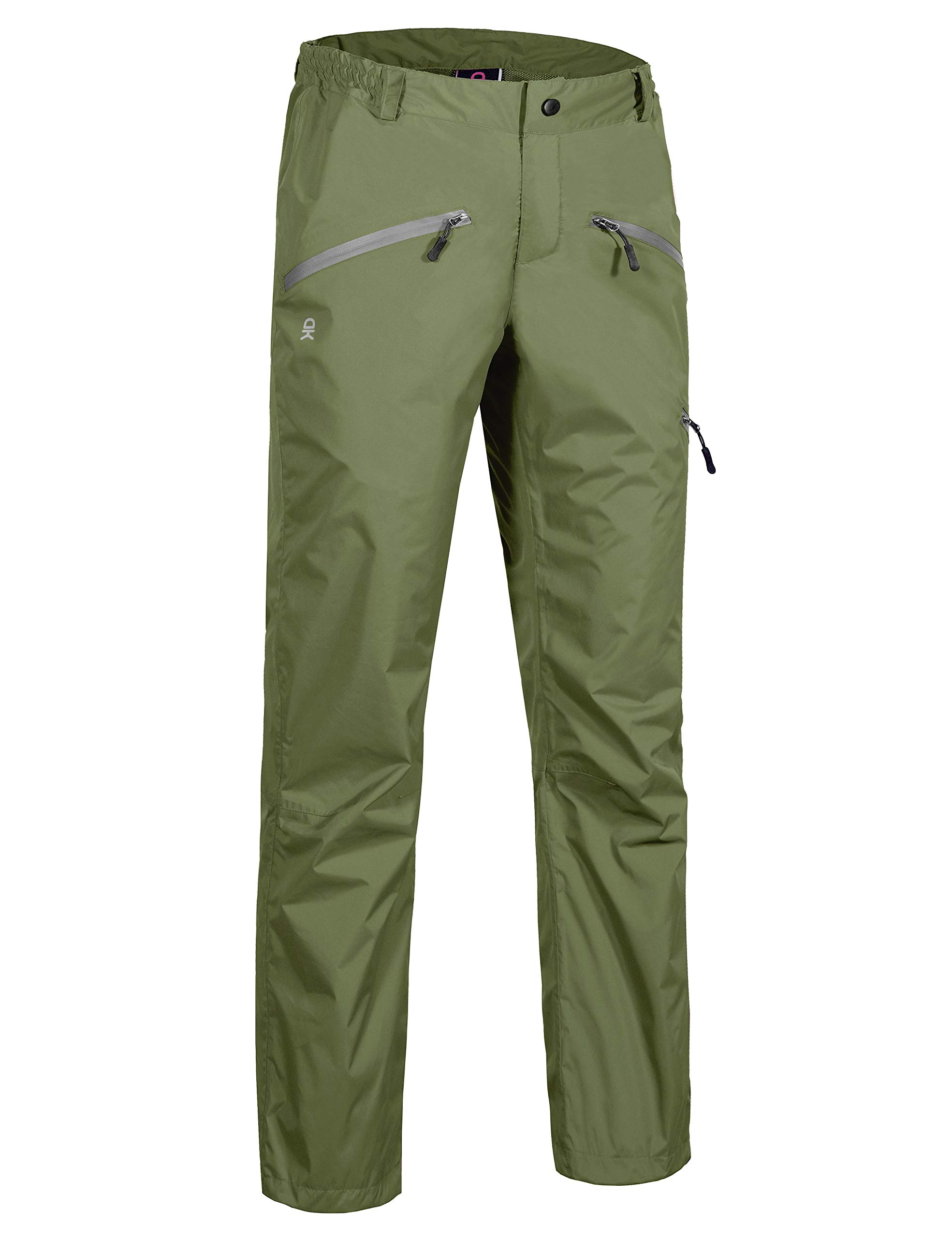 Little Donkey Andy Women's Waterproof Rain Pants Olive Size L by Little Donkey Andy