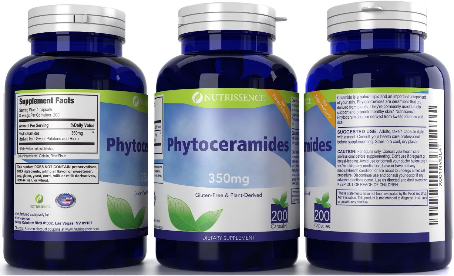 Nutrissence Phytoceramides 350mg 200 Capsules - Gluten ...