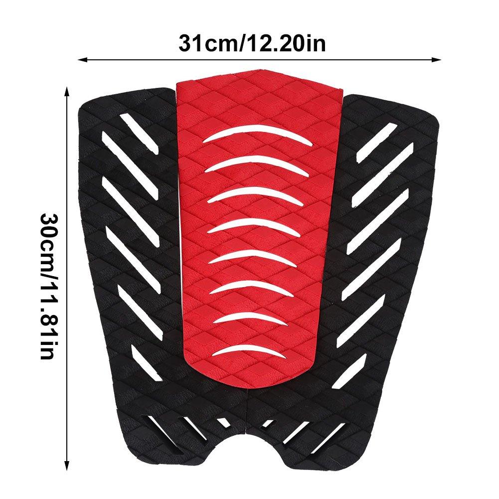 Leyeet Surfboard Traction Pads,1 Set EVA Anti-Slip Pad Sheet Tail Pad Surfing Sports Accessories for Surfboard Skim Board Kite Board Short Board